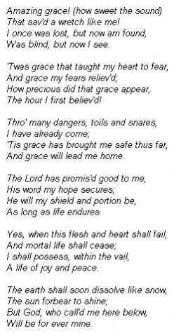 Lyrics to Amazing Grace