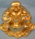 feng shui laughing buddha -Symbol with money bag is one of the most auspicious symbols and is said to bring wealth,happiness and success.