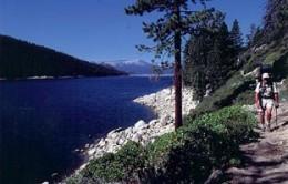 The first few miles were along Lake Edison.