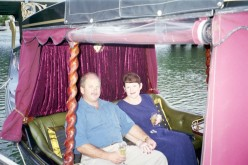 Out on the Gondola for our       10th Wedding Anniversary