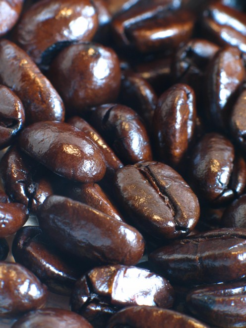 Perfectly roasted espresso-roast beans.