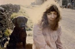 Bridget St John with dog