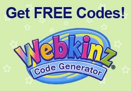 Free Webkinz Code Generator