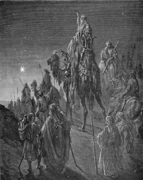 The Three Wise Men, Matt 2, 1-12 - Gustav Dore