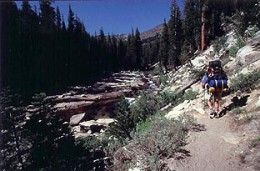 Heading north along the Middle Fork of the San Joaquin River.