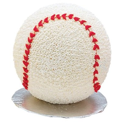 Sports ball cake makes a baseball, basketball, beachball. or whatever you like.