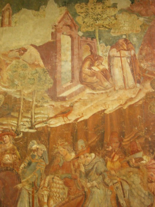 Fresco on plaster - still lovely after centuries