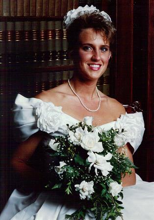 Her wedding day in 1991!