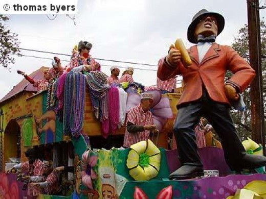 Mardi Gras Float Close Up