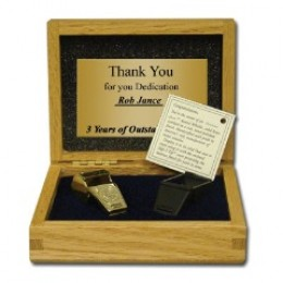 Your Football Coach deserves an award as unique as this Coach Whistle which comes in a velvet-lined walnut case and the plate can be laser-engraved with your message.