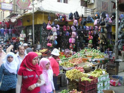 Cairo market.  Photo by Glendon Caballero.