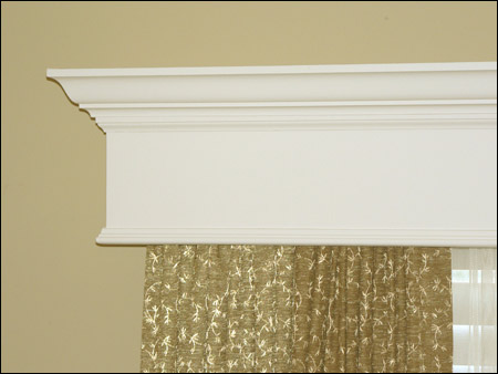 Detail of Wood window cornice