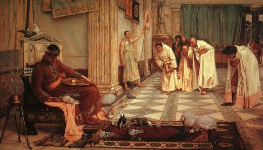 The Favorites of the Emperor Honorius, by John William Waterhouse, 1883.