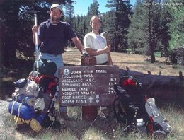 Two very tired, but happy, hikers who've completed their 7 day / 76 mile trek.
