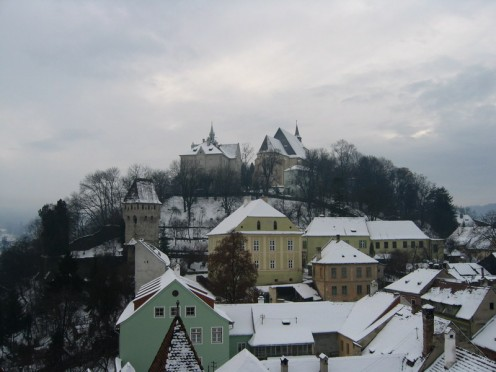 Sighisoara, Transylvania at Christmas.