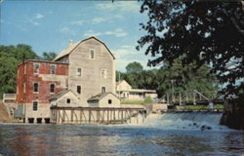 The old mill in Fergus Fall, Mn on my way to school every morning