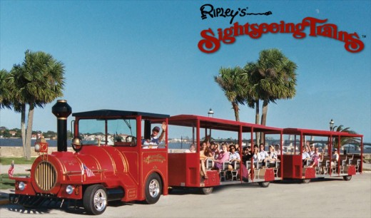 Ripleys Sightseeing Train in St Augustine Florida