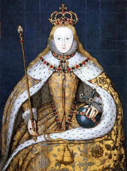 Elizabeth's Coronation Painting from Wikimedia Commons