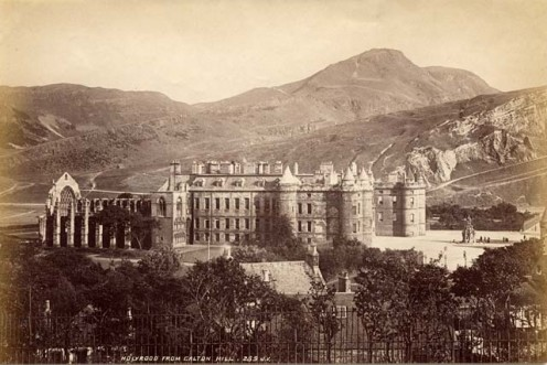 Scottish Royal Residence at Holyrood circa 1878.