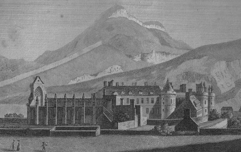 Holyrood Palace and Abbey, 1789.