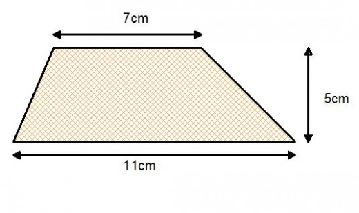 how to work out the volume of a trapezium