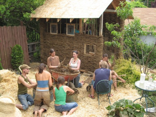 Natural building workshop: creating a small backyard building