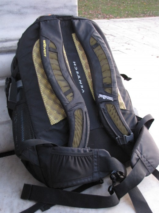 "the ""back"" of the daypack"