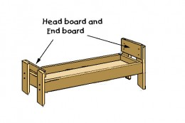 Bolt on headboard and foot board.