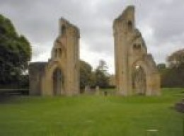 Glastonbury Abbey, ruined from the Reformation by Henry VIII