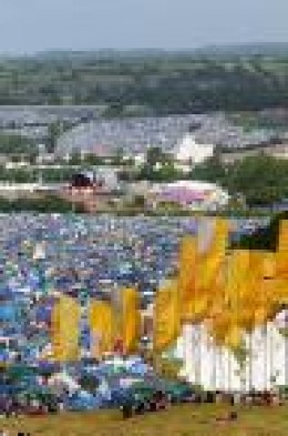 Just a tiny proportion of the Festival site.  There are 200,000 attendees