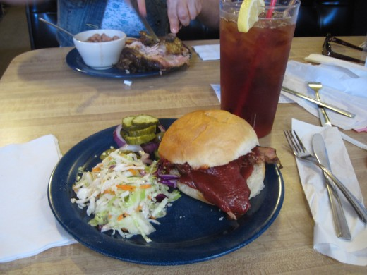 My dinner - Texas Brisket Sandwich
