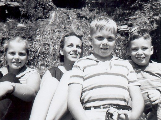 Left to right...me, my mother, and my two brothers...Johnny and Jimmy (as they were then called).
