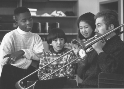 At a trombone workshop