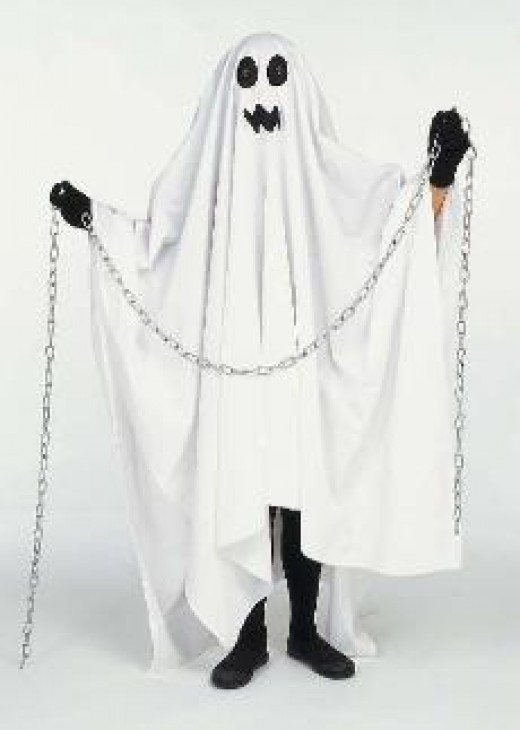 The ghost costume is a classic halloween costume thats favored by most people.