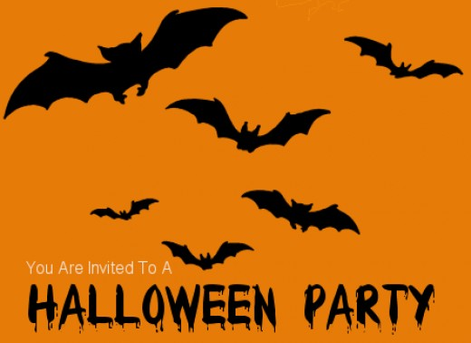 You can easily make this bat party invitation from home by tracing cut out bats onto an orange sheet of paper