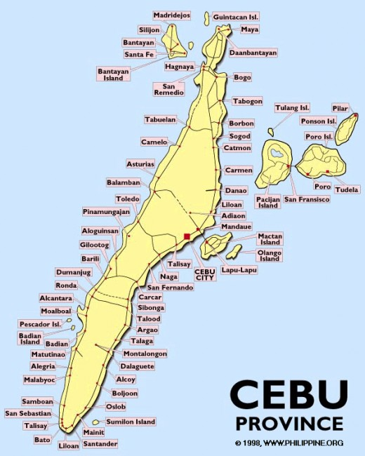 Tourist and Historical Attractions in Cebu Philippines – Philippines Tourist Attractions Map