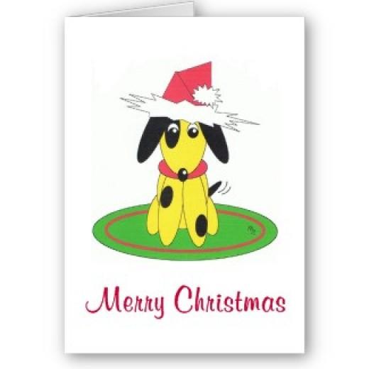 Santa Dog Christmas Card