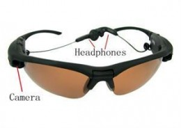 2GB Spy Sunglasses w/ Camera, Headphones, picture courtesy of ebay seller http://myworld.ebay.com/wrightenterprise001/