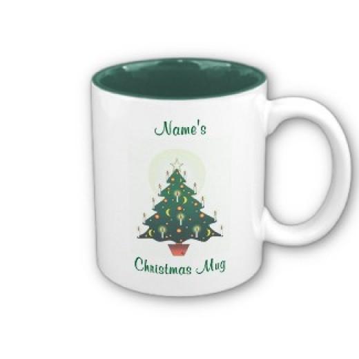 Customizable Christmas Tree Mug