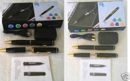 SPY PEN, VIDEO, AUDIO RECORDING CAMERA PEN, USB FLASH, picture courtesy of ebay seller  http://myworld.ebay.com/techztronix714/