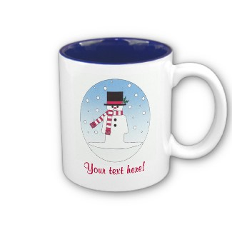 Customizable Christmas Snowman Mug from The PersonalTouch