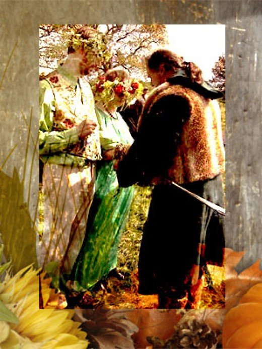 Created; photo - handfasting, wikimedia