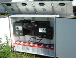 Power center with battery bank