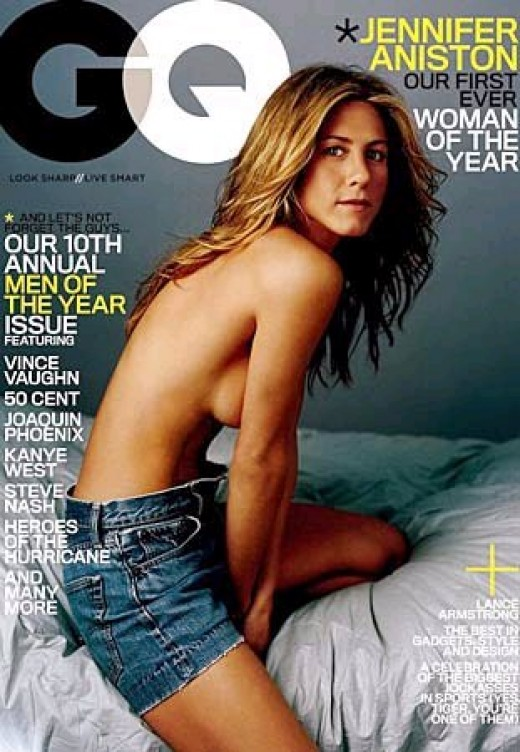 Jennifer Aniston's Tie GQ cover