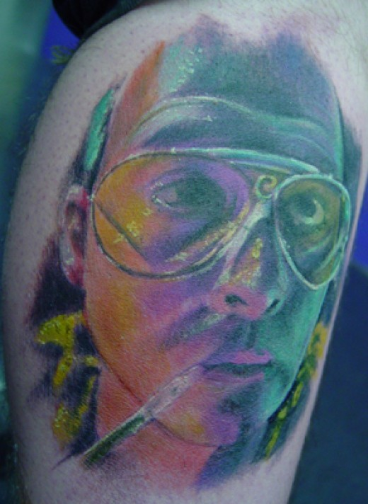 Johnny Depp Tattoo Portrait by Chuck Kail
