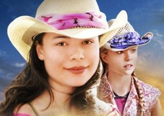 "Hannah and CJ in ""The Wild Stallion"""