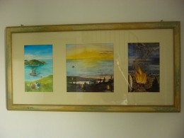 The Big Picture, hanging on a wall.  (OK, it's actually beach scenes.  Planet 'Earth' is 2/3 water, so there you go.)