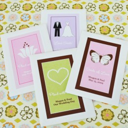 Personalized Flower Seed Favors