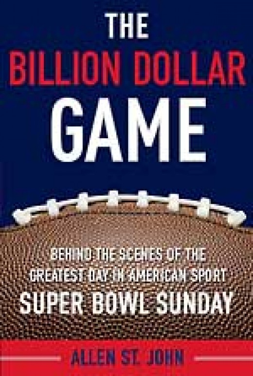 The Million Dollar Game - Super Bowl Sunday book cover in red white and blue with football