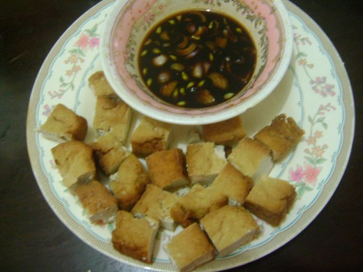 Fried Tofu with Sauce